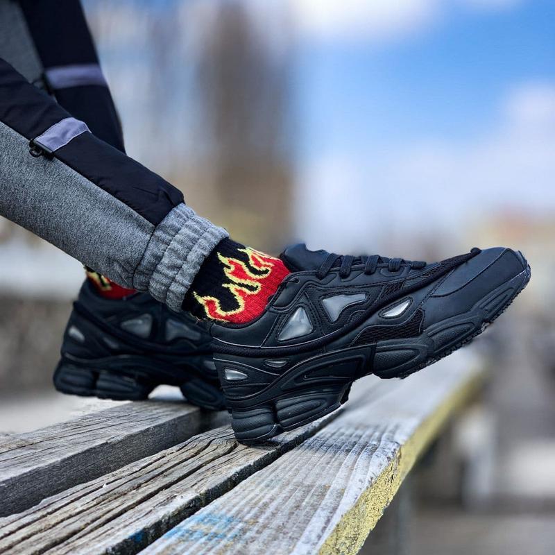 Мужские кроссовки adidas raf simons ozweego black  41-43 - Фото 2