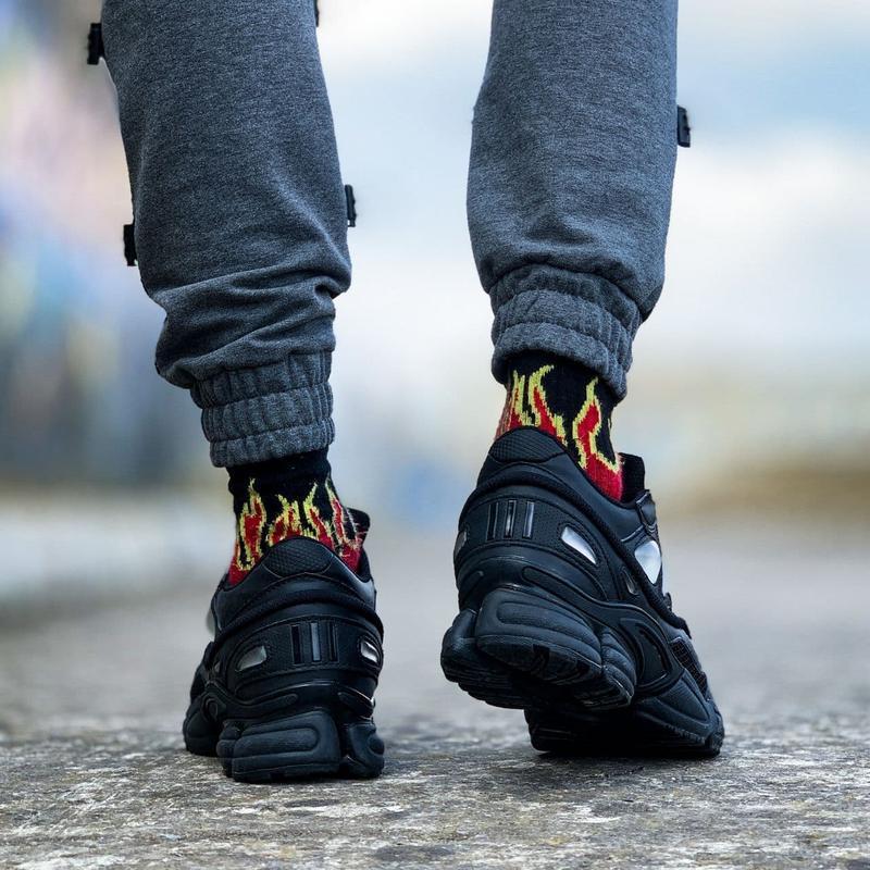 Мужские кроссовки adidas raf simons ozweego black  41-43 - Фото 3