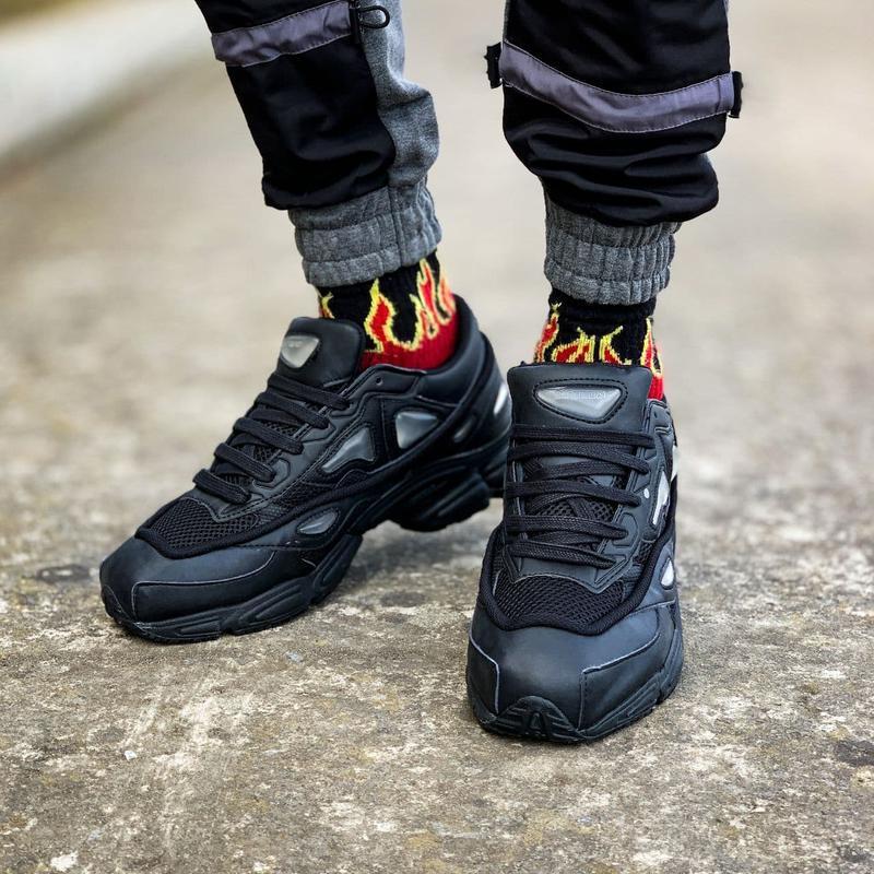 Мужские кроссовки adidas raf simons ozweego black  41-43 - Фото 8