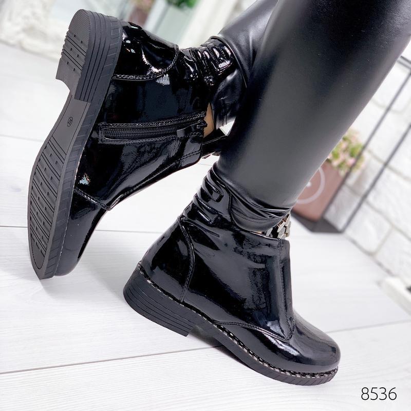 ❤невероятные женские черные демисезонные осенние ботинки ботил... - Фото 2