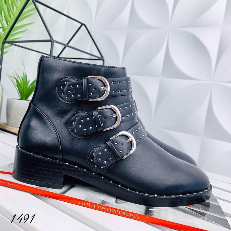 ❤ женские черные  демисезонные осенние ботинки сапоги сапожки ❤ - Фото 2