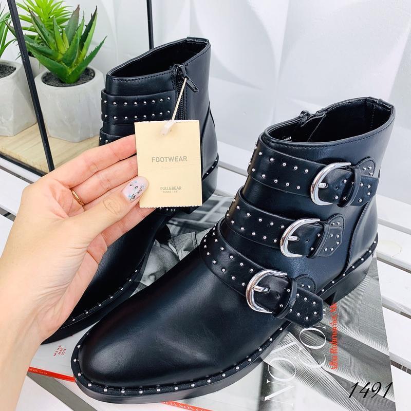 ❤ женские черные  демисезонные осенние ботинки сапоги сапожки ❤ - Фото 3