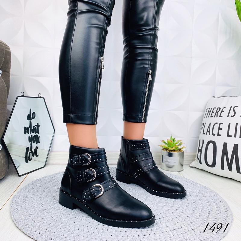 ❤ женские черные  демисезонные осенние ботинки сапоги сапожки ❤ - Фото 4