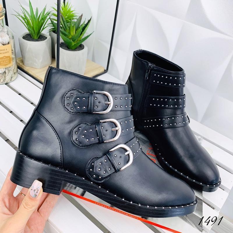 ❤ женские черные  демисезонные осенние ботинки сапоги сапожки ❤ - Фото 5