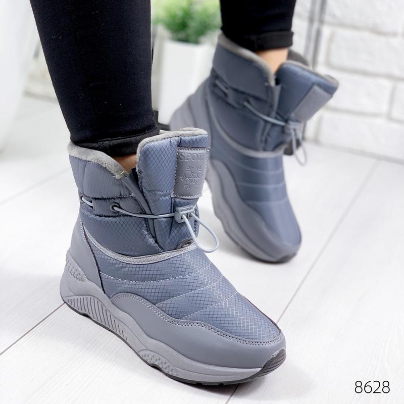 ❤ женские серые зимние дутики угги ботинки сапоги валенки ❤