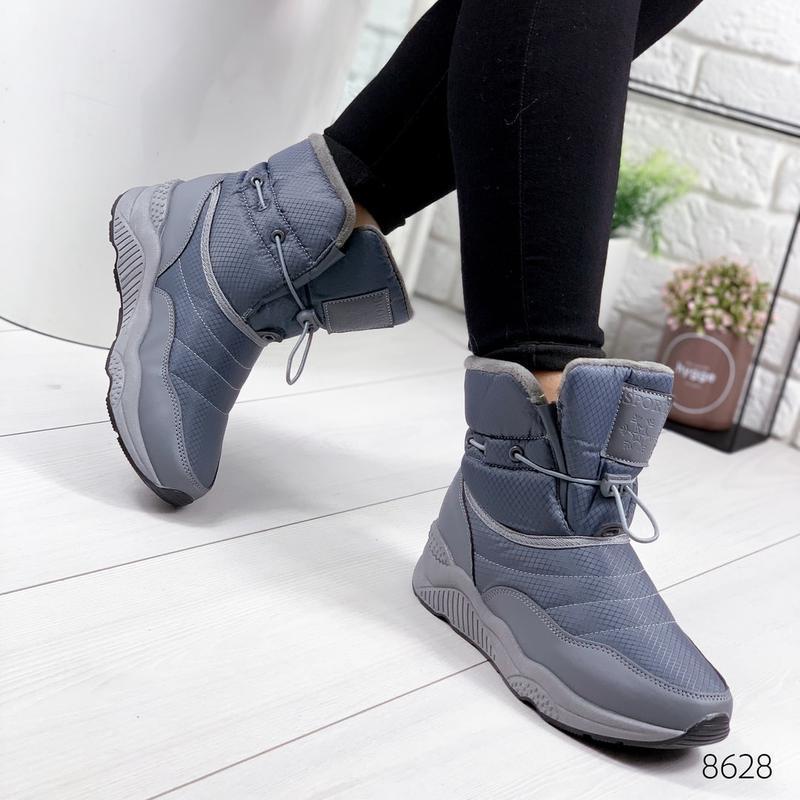❤ женские серые зимние дутики угги ботинки сапоги валенки ❤ - Фото 3