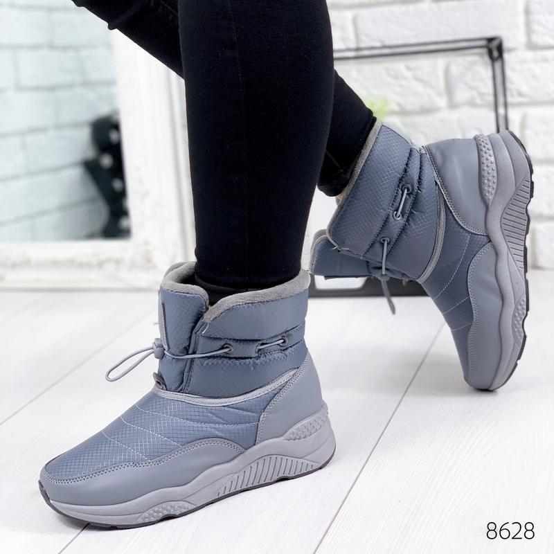 ❤ женские серые зимние дутики угги ботинки сапоги валенки ❤ - Фото 4