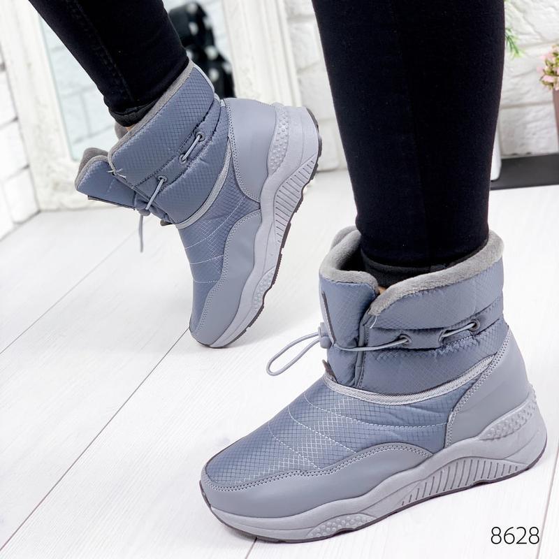❤ женские серые зимние дутики угги ботинки сапоги валенки ❤ - Фото 5