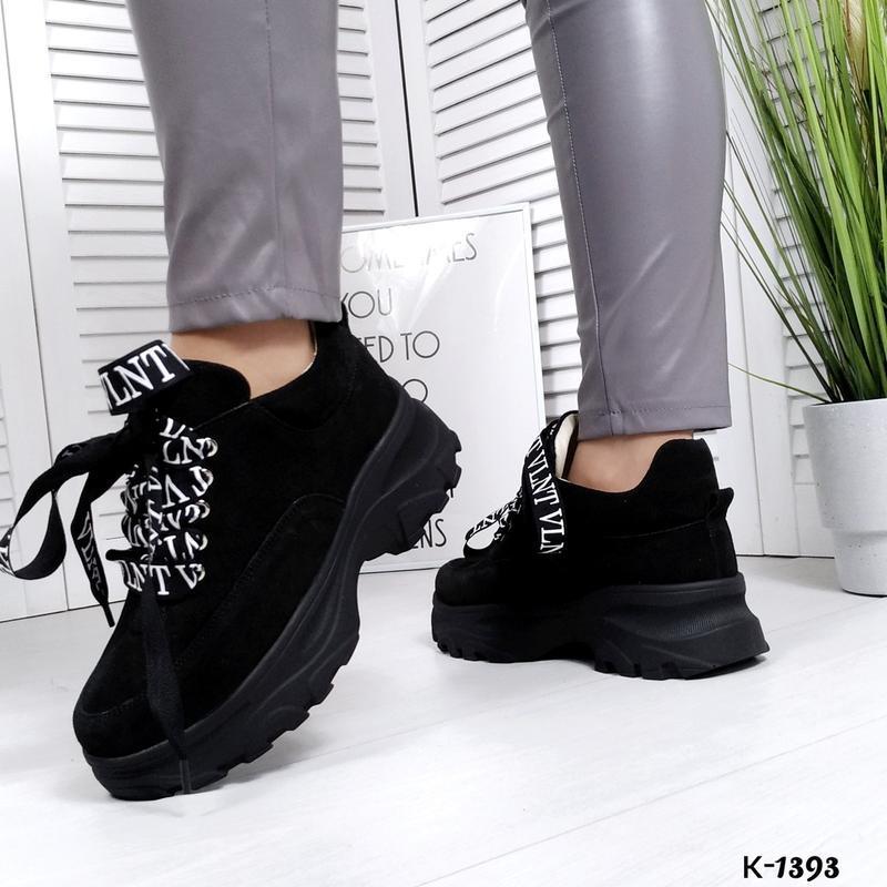 ❤ женские черные замшевые кроссовки (осень/весна/лето)  ❤ - Фото 3