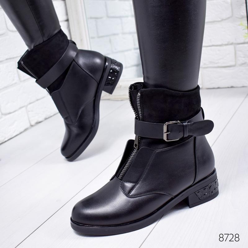 ❤ женские черные зимние  ботинки сапоги сапожки на меху  ❤