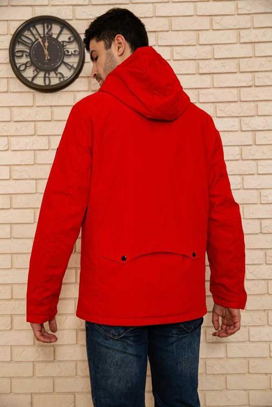 Красная мужская куртка - Фото 3