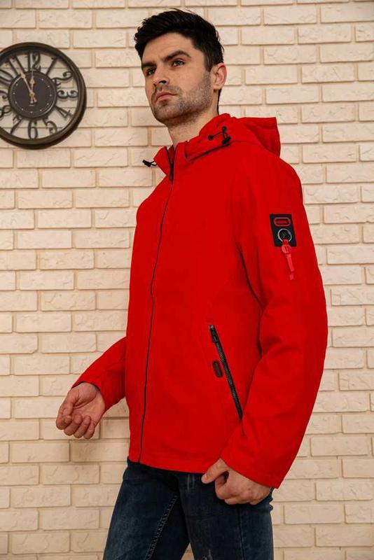 Красная мужская куртка - Фото 4