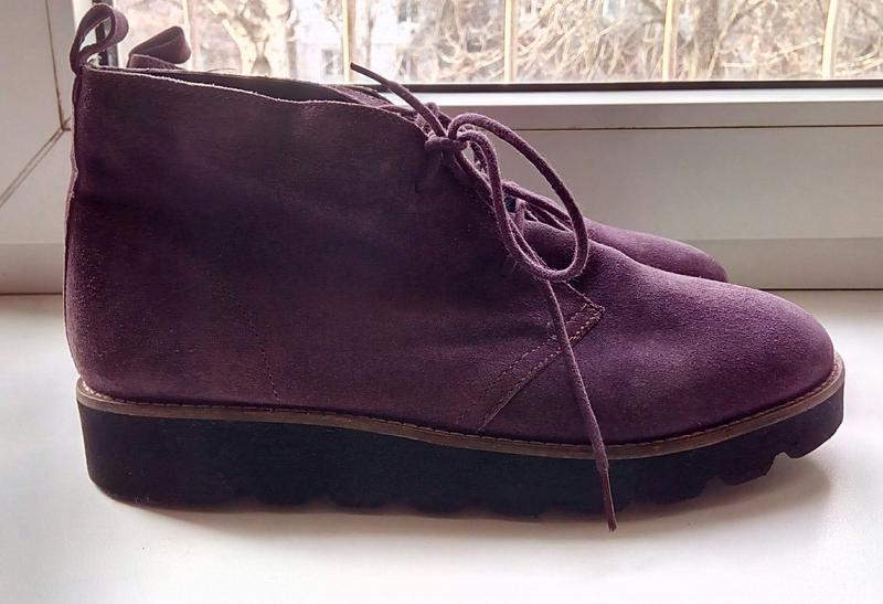 Стильные замшевые ботинки на платформе faith.