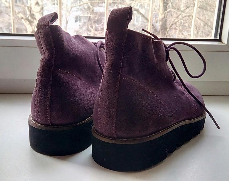 Стильные замшевые ботинки на платформе faith. - Фото 2