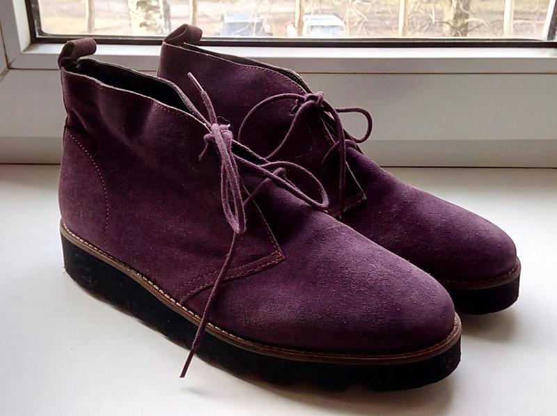 Стильные замшевые ботинки на платформе faith. - Фото 3