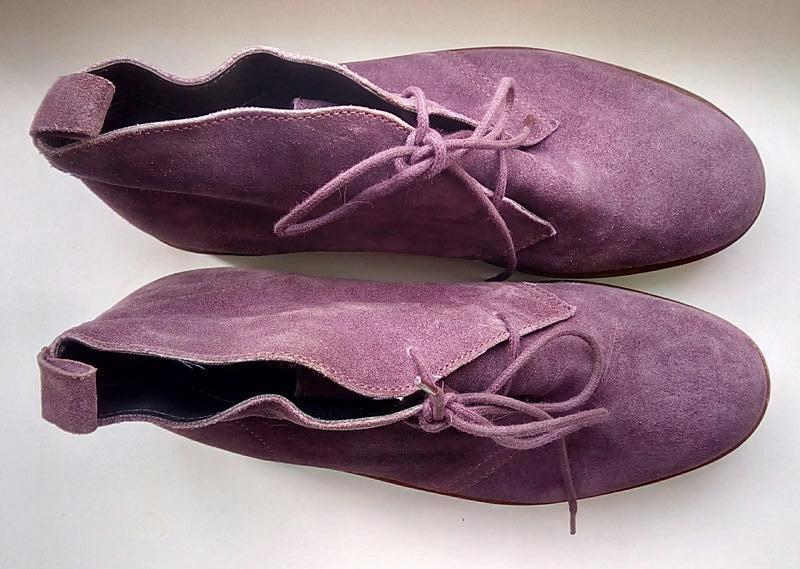 Стильные замшевые ботинки на платформе faith. - Фото 5