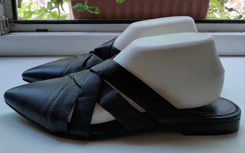 Стильные кожаные мюли topshop.