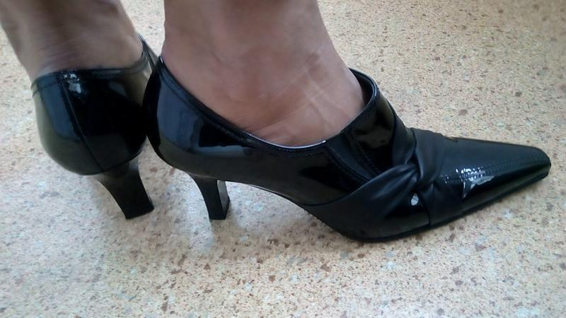 Стильные новые кожаные туфли gabor. - Фото 4