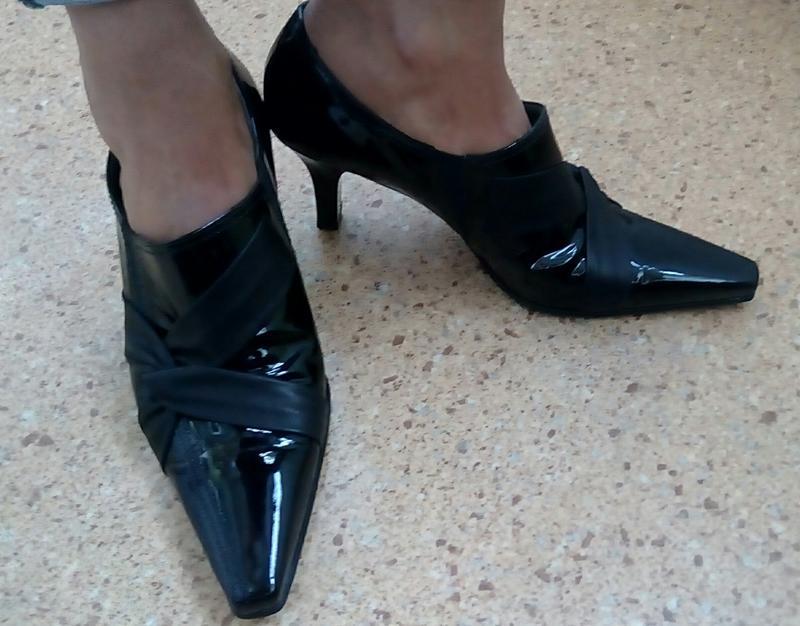 Стильные новые кожаные туфли gabor. - Фото 5