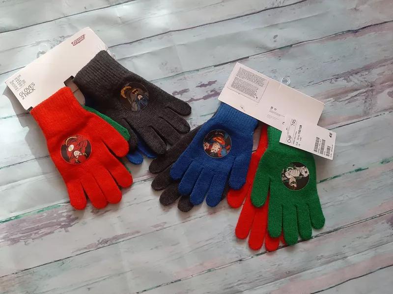 Перчатки детские с супергероями