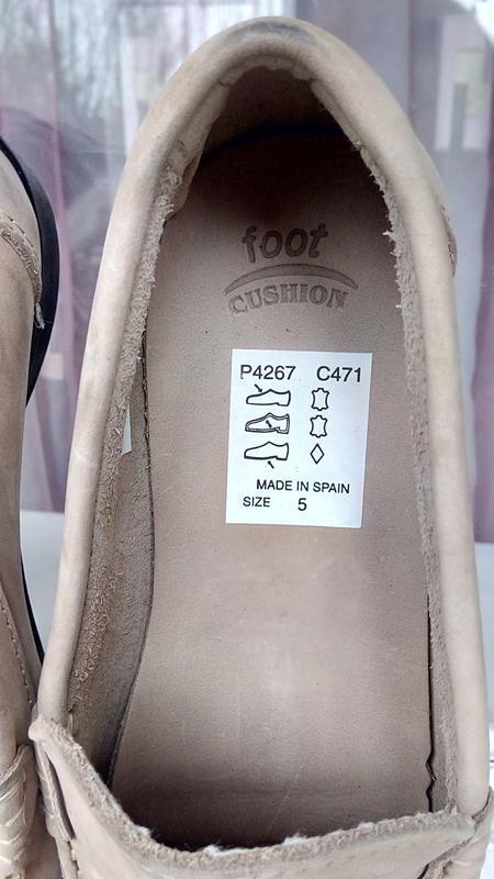 Стильные новые кожаные лоферы foot cushion (испания). - Фото 4