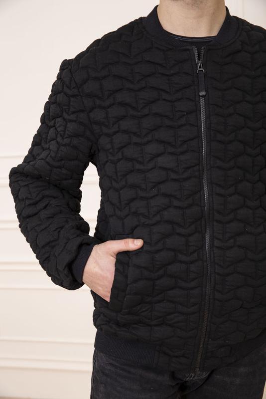 Мужская  куртка бомбер - Фото 3