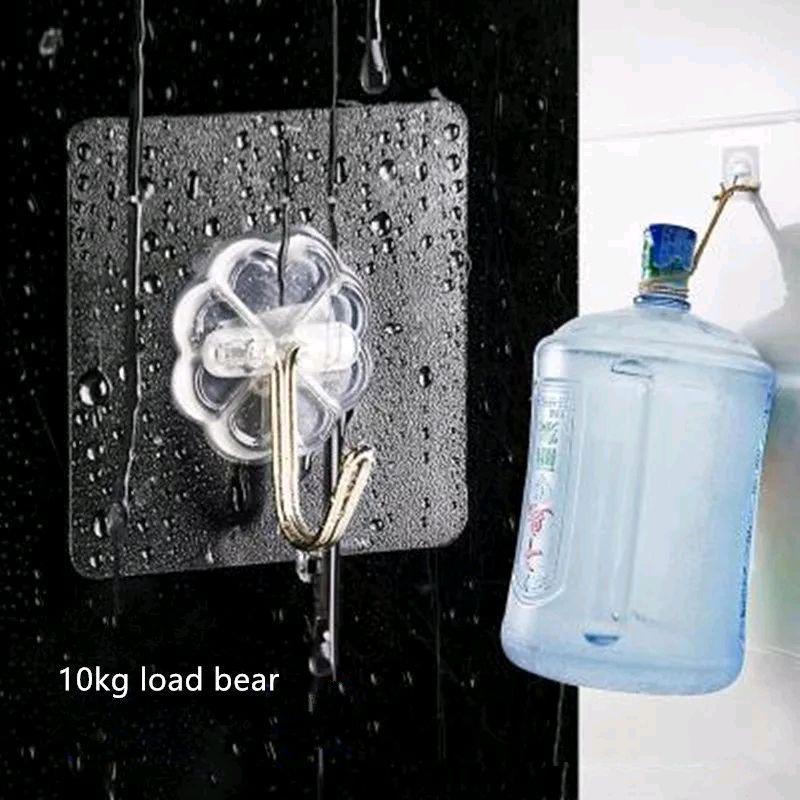 Самоклеящиеся настенные крючки, вешалка для кухни ванной