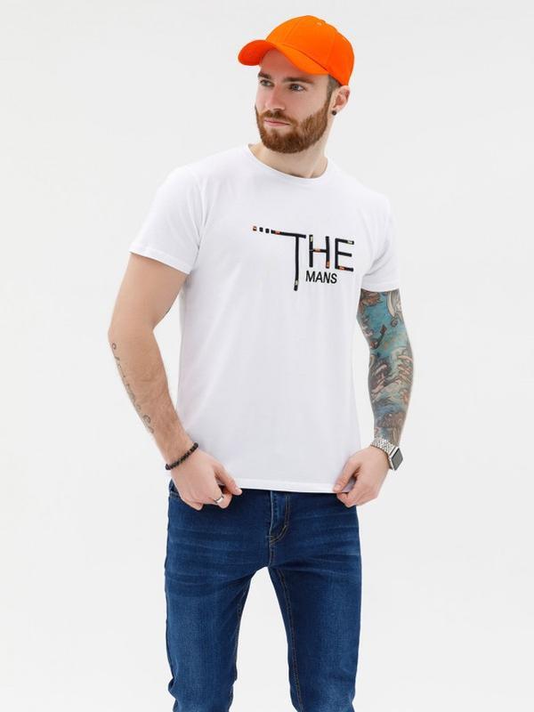 Белая эластичная трикотажная футболка с вышивкой