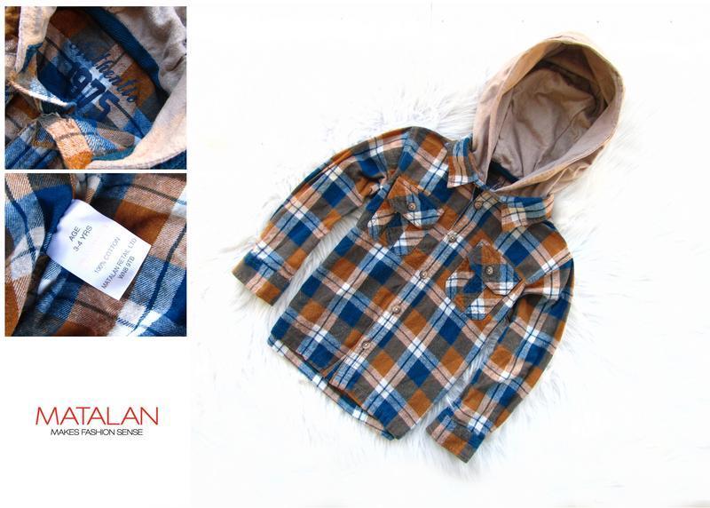Качественная и стильная рубашка с капюшоном matalan