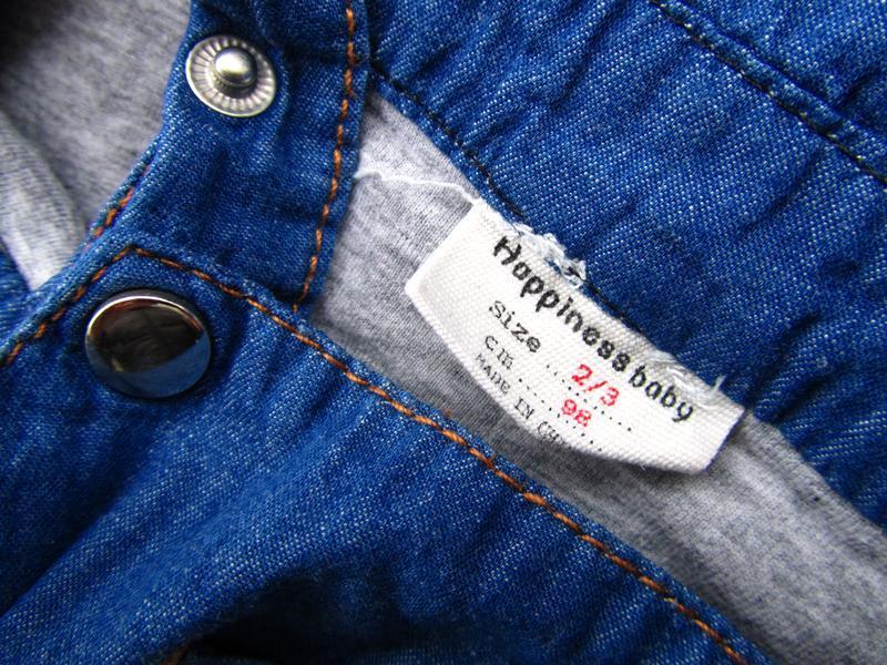 Крутой джинсовый полукомбинезон happiness baby - Фото 4