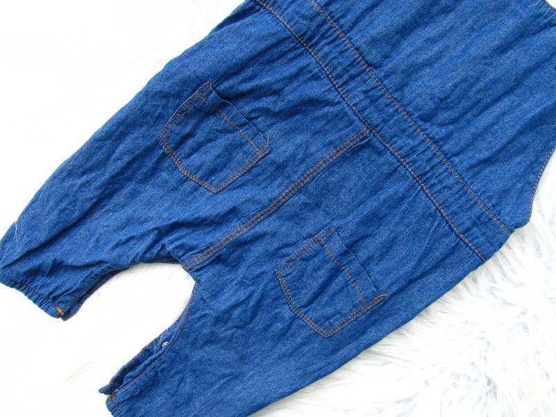 Крутой джинсовый полукомбинезон happiness baby - Фото 5