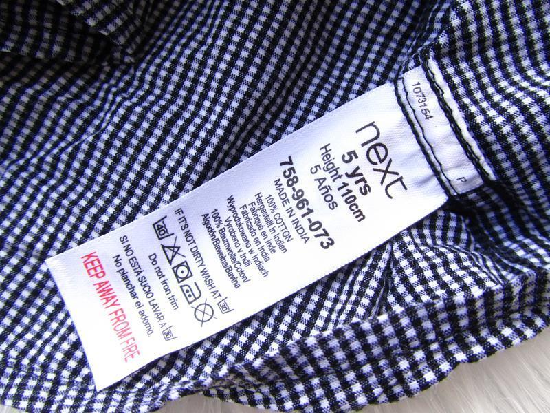 Стильная рубашка с коротким рукавом next - Фото 3