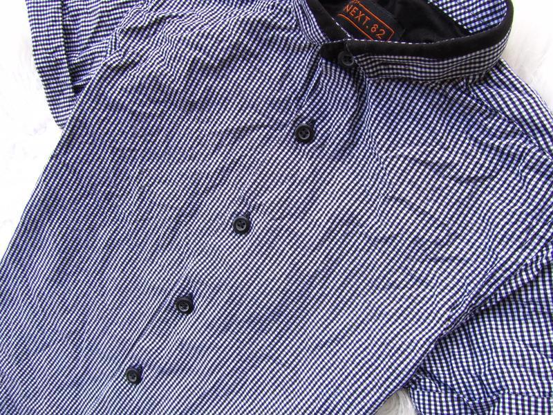 Стильная рубашка с коротким рукавом next - Фото 4