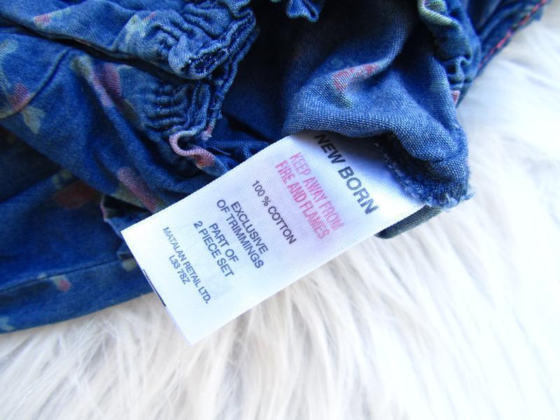 Крутой джинсовый полукомбинезон песочник matalan - Фото 2