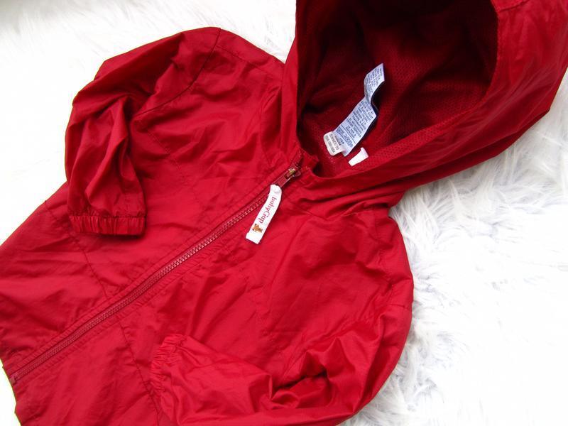 Стильная ветровка дождевик куртка парка с капюшоном gap - Фото 2