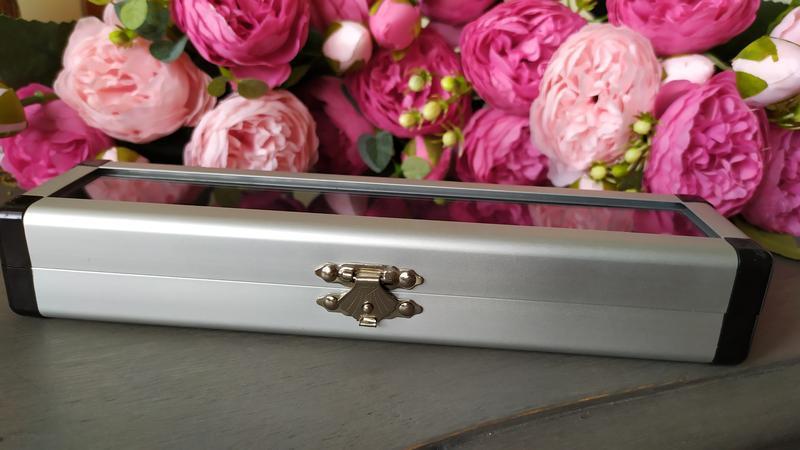 Металлический алюминиевый кофр кейс шкатулка для украшений бус