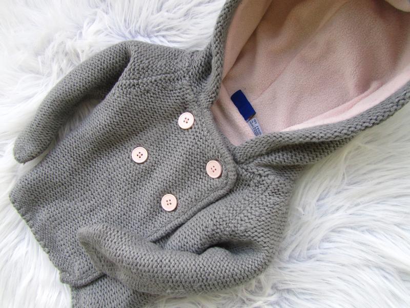 Стильная теплая кофта реглан с капюшоном  lupilu - Фото 3