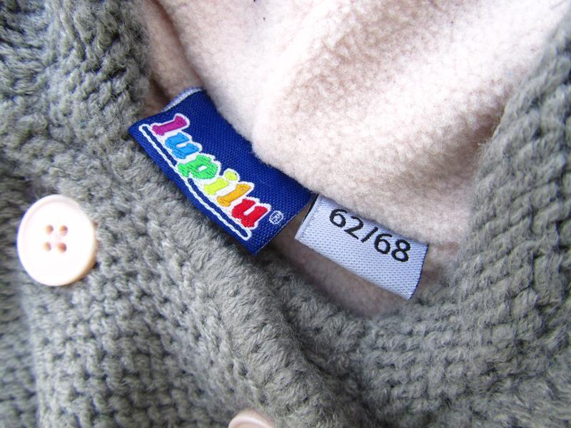 Стильная теплая кофта реглан с капюшоном  lupilu - Фото 4