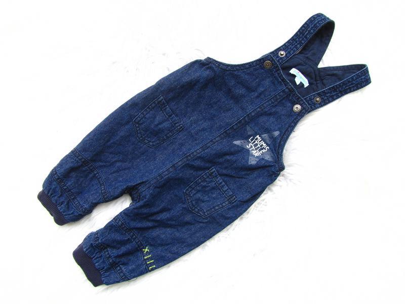 Крутой джинсовый полукомбинезон premaman