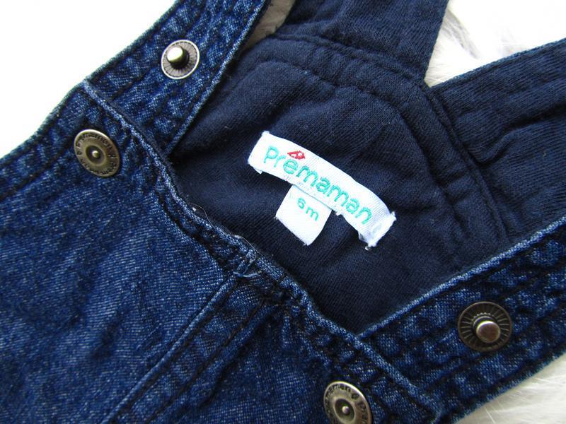 Крутой джинсовый полукомбинезон premaman - Фото 2