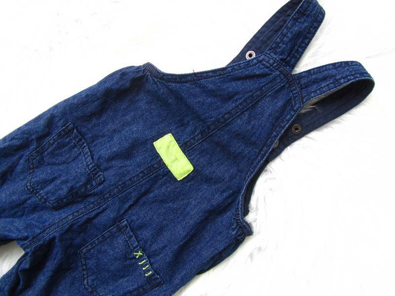 Крутой джинсовый полукомбинезон premaman - Фото 3