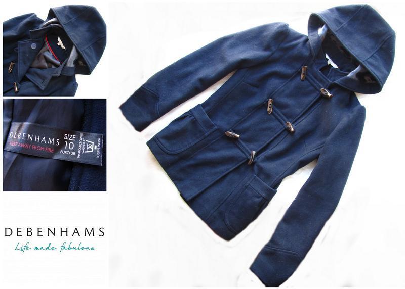 Стильно пальто с капюшоном debenhams