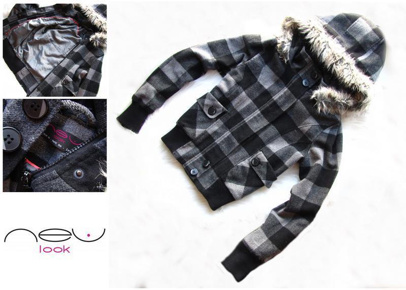 Теплое пальто куртка new look