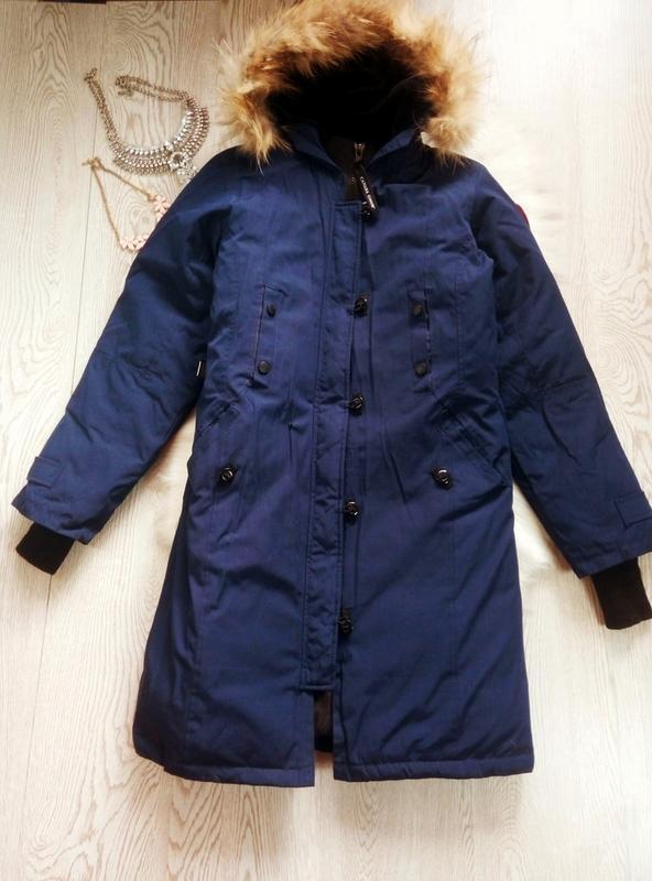 Арктическая зимняя синяя парка куртка (на темп.-40) на футболк...