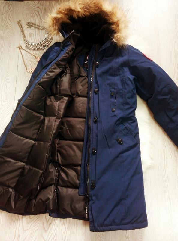 Арктическая зимняя синяя парка куртка (на темп.-40) на футболк... - Фото 2