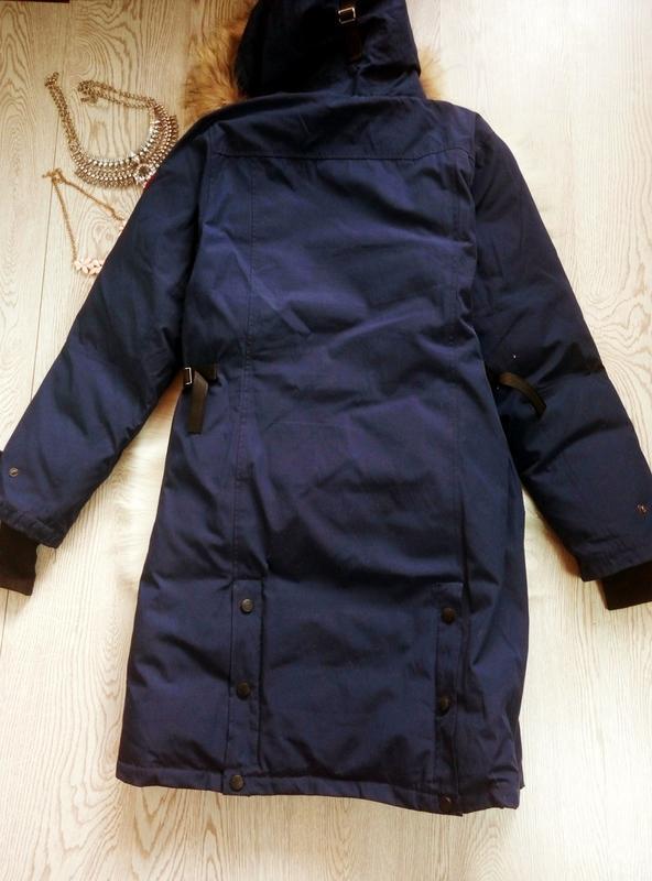 Арктическая зимняя синяя парка куртка (на темп.-40) на футболк... - Фото 5