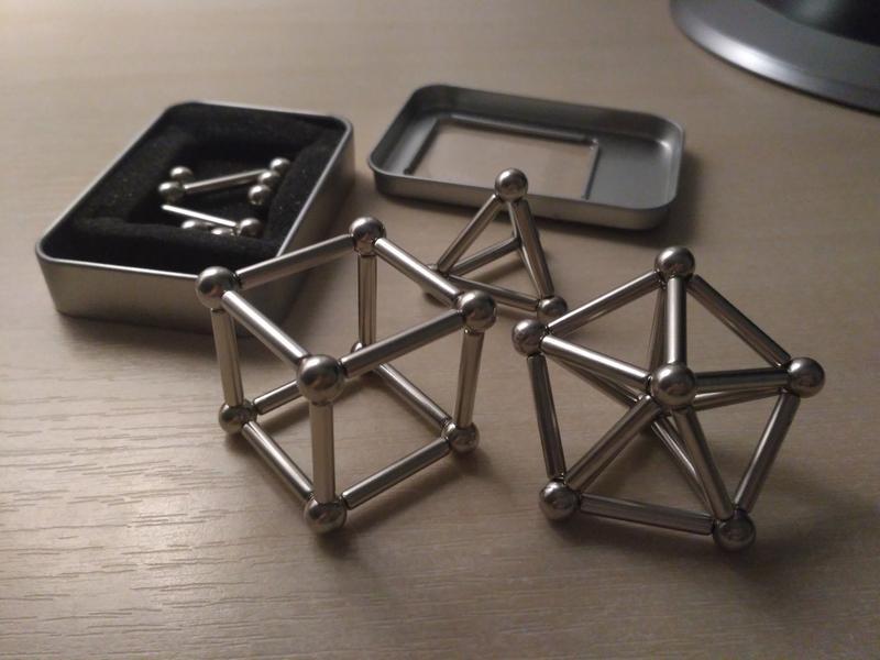 Магнитный конструктор ZOYO (шарики и палочки), 63 детали, разв...