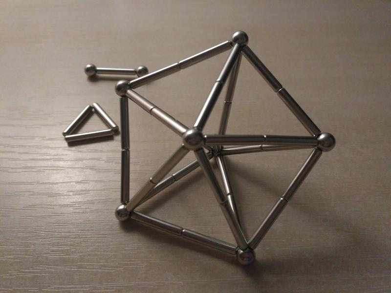Магнитный конструктор ZOYO (шарики и палочки), 63 детали, разв... - Фото 4