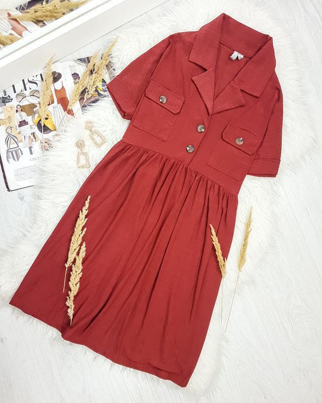Сукня кірпічного кольору вільного фасону asos
