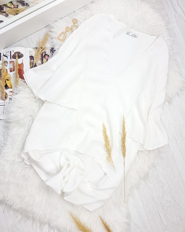 Котонова сорочка з подовженою спинкою zara trf